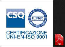 Certificazione UNI-EN-ISO 9001