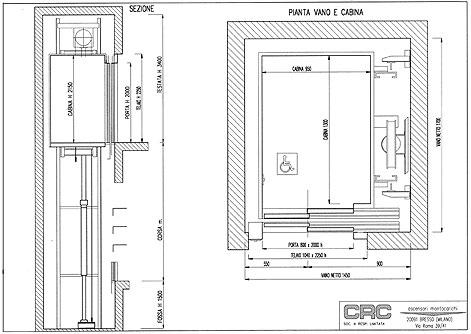 Ascensore vetro dwg un in vetro un elemento di design per for Ascensore dimensioni